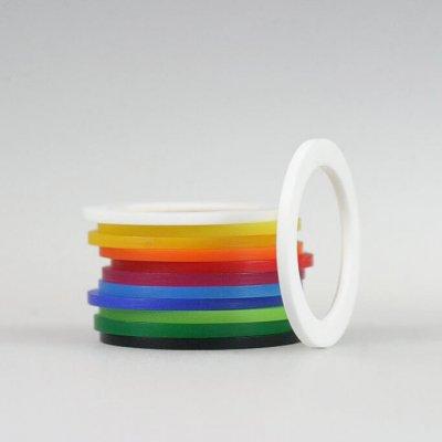 Acrylringe, opak, 11 Farben, 1mm brei