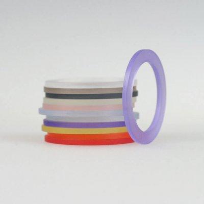 Acrylringe, transparent, 11Farben, 1mm breit