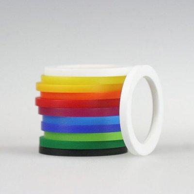 Acrylringe, opak, 11 Farben, 2mm brei
