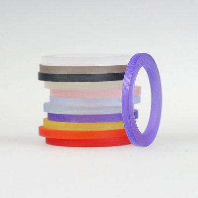 Acrylringe, transparent, 11Farben, 2mm breit