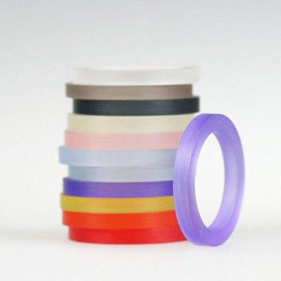 Acrylringe, transparent, 11Farben, 3mm breit