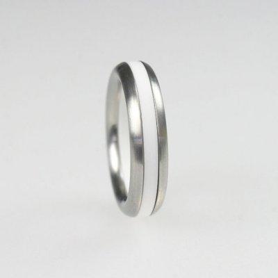 Ringkombination in Edelstahl mit Acryl