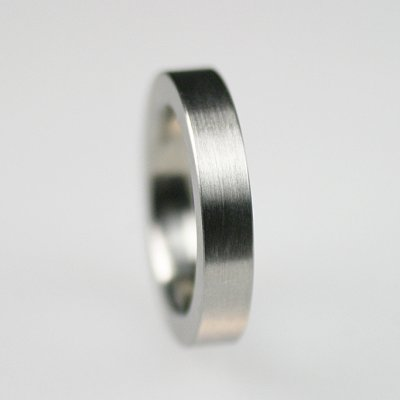 Ring in Edelstahl, 4,5mm breit, mattierte Oberfläche