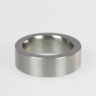 Ring in Edelstahl, 7,5mm breit, mattierte Oberfläche