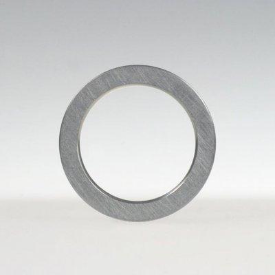 Ring in Edelstahl, 3,2mm hoch, mattierte Oberfläche