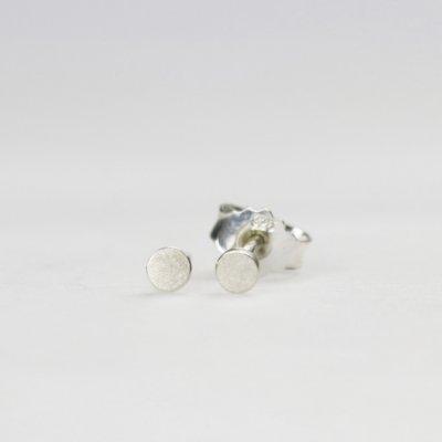 Ohrstecker in Silber, 3mm rund