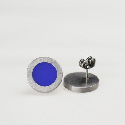 Ohrstecker in Edelstahl mit blauem Acryl