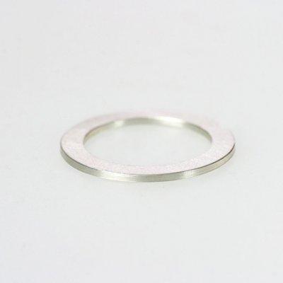 Ring in 925/_ Silber, 1,1mm breit, mattierte Oberfläche