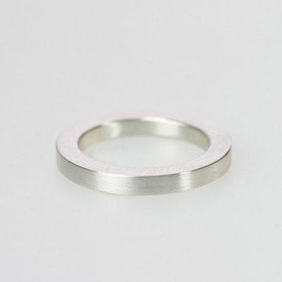 Ring in 925/_ Silber, 3mm breit, mattierte Oberfläche