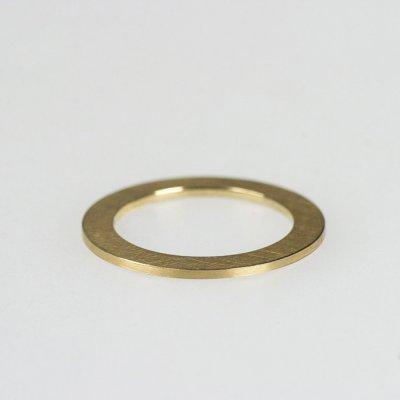 Ring in 750/_Gelbgold, 1mm breit, mattierte Oberfläche