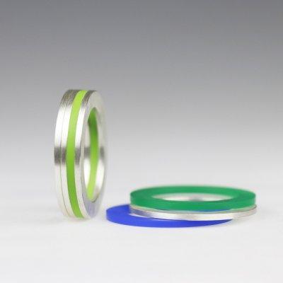 Ringkombination in Silber, mit 3 Acrylringen beliebig wählbar